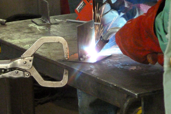 Welding Merit Badge at Camp Read